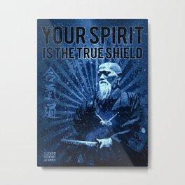 Morihei Ueshiba Aikido, Martial Arts Aikido Print, Metal Print