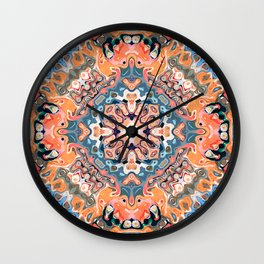 Textured Mandala Pattern Wall Clock