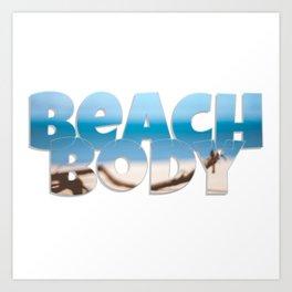 Beach Body Art Print