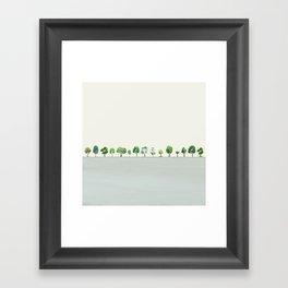 A Row Of Trees Framed Art Print