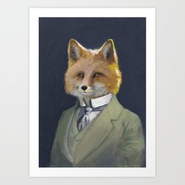 FOX FRIEND, by Frank-Joseph Art Print