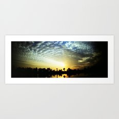egipt sunset Art Print