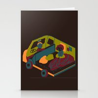 brown Stationery Cards featuring Brown by Marce Farce