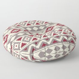Aztec Essence Ptn IIIb Red Cream Taupe Floor Pillow