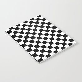 Black Checkerboard Pattern Notebook