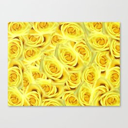 Candlelight Roses Canvas Print