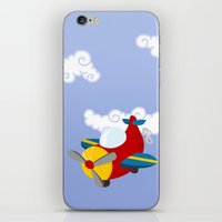 plane iPhone & iPod Skins featuring plane by Alapapaju