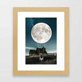 Moon Swing by GEN Z Framed Art Print