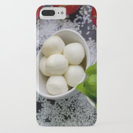 #Trio of #tomatoes #basil #fresh #Mozzarella iPhone Case