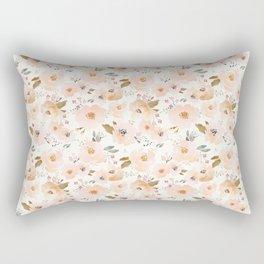 Peachy Blossoms Rectangular Pillow