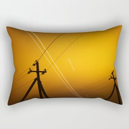 Pillar for electricity wire on twilight time Rectangular Pillow