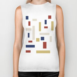 Abstract Theo van Doesburg Composition VIII (White) The Three Graces Biker Tank