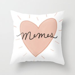 Memes, of course Throw Pillow