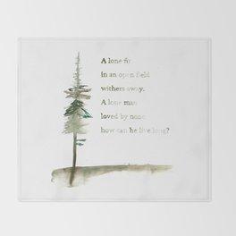 A Viking Proverb - Fir Tree Throw Blanket