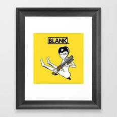 BLANKM GEAR - SHOTGUN GIRL T SHIRT Framed Art Print