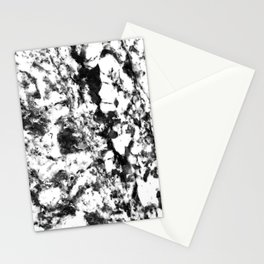 Harlequin Ebony Black and Eggshell White Marble Pattern Stationery Cards