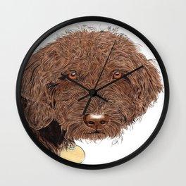 Chocolate Labradoodle Wall Clock