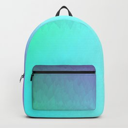 Six Color Ombre Cyan, Purple, Green, Pink, Purple, Blue, Spectrum Flame Backpack