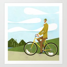 Road Cycling With Rodent Power Poster Art Print