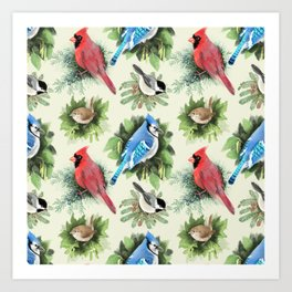 Birds and Branches Art Print