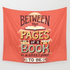 Between pages Wall Tapestry
