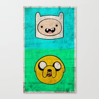 finn and jake Canvas Prints featuring Finn & Jake by WolfFace