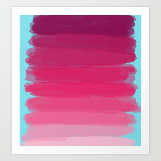Lipstick: Shades of Pink Gradient Color Study Art Print