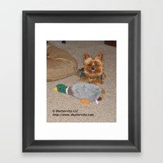 Yorkie Smile -O- Gram Framed Art Print