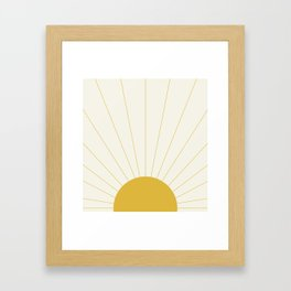 Sunrise / Sunset Minimalism Framed Art Print