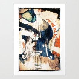 Double bass Jazz Poster Art Print