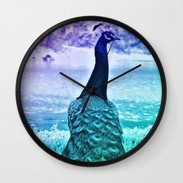 Blue Peacock  (version 2) by GEN Z Wall Clock