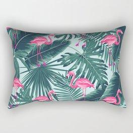 tropical pink flamingo Rectangular Pillow