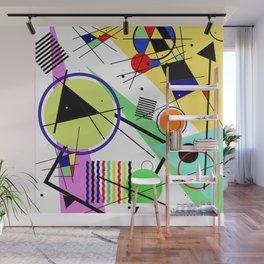 Retro Crazy - Abstract, random, crazy, geometric, colourful artwork Wall Mural