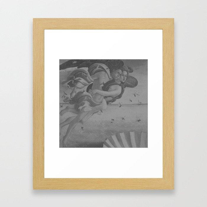Black White Angels Framed Art Print