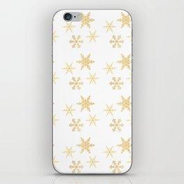 Snowflakes on White iPhone Skin