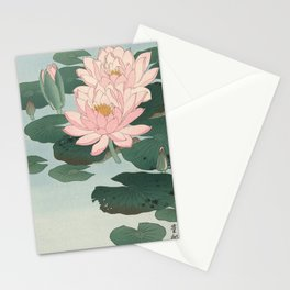 Flowering Water Lily, Ohara Koson Stationery Cards