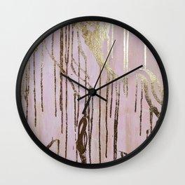 Gold Drips Wall Clock