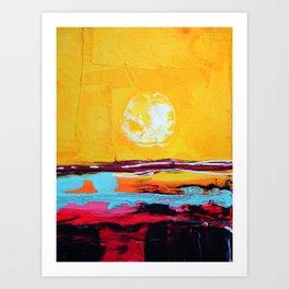 Abstract Landscape - My Moon Art Print