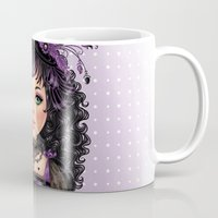 goth Mugs featuring Little Goth by DiMary