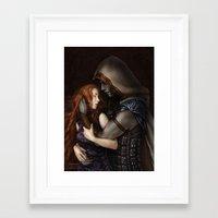 book cover Framed Art Prints featuring Radiance Book Cover by Helheimen Design