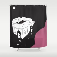 alone Shower Curtains featuring Alone by FLATOWL