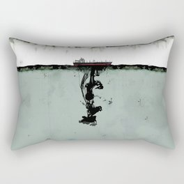 Ship boat oil spill sea Rectangular Pillow