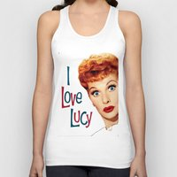 lucy Tank Tops featuring Lucy by SwanniePhotoArt