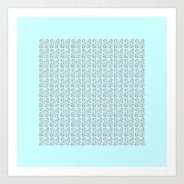 White Bubble 02 Art Print