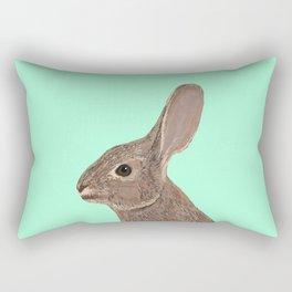 Roger - Bunny, Rabbit, Pet, Cute, Easter, Pet Rabbit, Pet Friendly, Bunny Cell Phone Case Rectangular Pillow