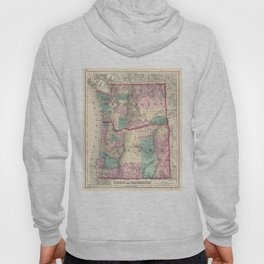 Vintage Map of Washington and Oregon (1875) Hoody