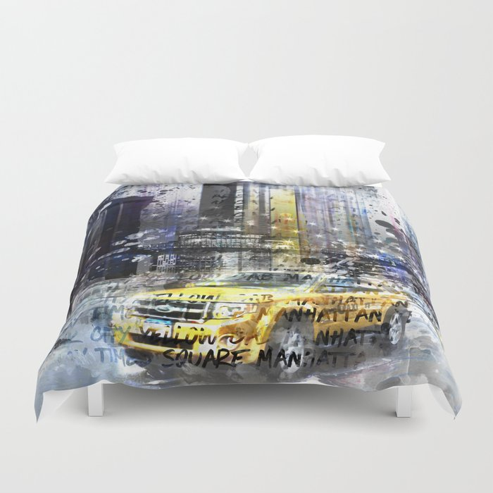 City-Art NYC Collage Duvet Cover