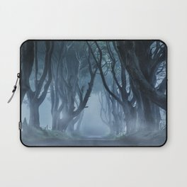 Very cold foggy morning at Dark Hedges Laptop Sleeve