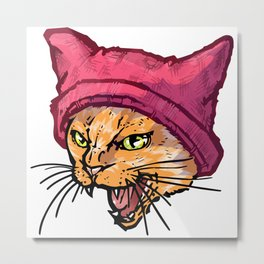 The Cat in the Hat (Tiger) Metal Print