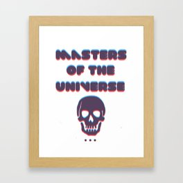 masters of the universe Framed Art Print